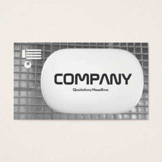3d Lozenge - Glass Wall Black and White Business Card