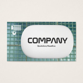 3d Lozenge - Glass Wall Business Card