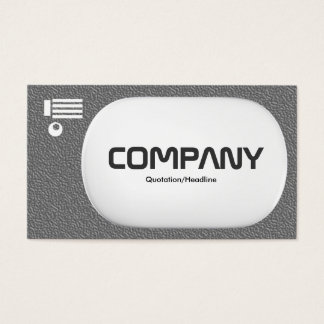 3d Lozenge - Mid Gray Embossed Texture Business Card