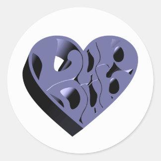 3D Lub Dub (Blue) Classic Round Sticker