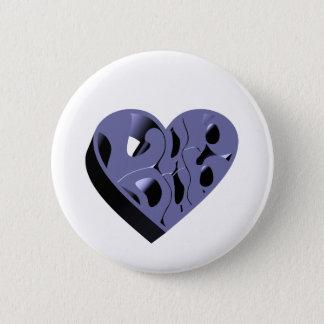 3D Lub Dub (Blue) Pinback Button