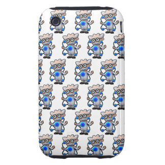 3d Mad Scientist Atomic (with editable background! Tough iPhone 3 Cover