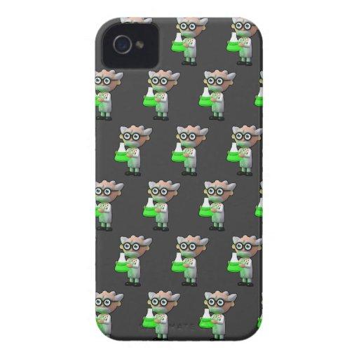 3d mad scientist flask (Editable BG Color!) Case-Mate iPhone 4 Case
