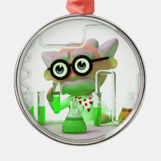 3d Mad Scientist Laboratory Metal Ornament