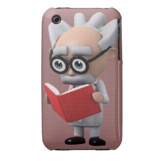 3d mad scientist reading (Editable) Case-Mate iPhone 3 Case
