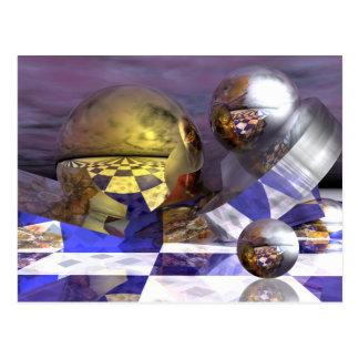 3d mágico tarjeta de la ciencia ficción tarjeta postal