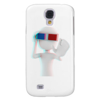 3d man anaglyph galaxy s4 cover