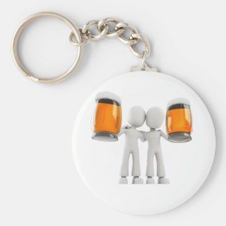 3d man and beer keychain