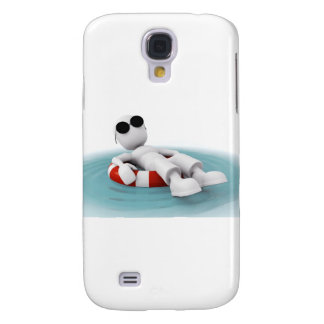 3d man relaxing in a pool samsung s4 case