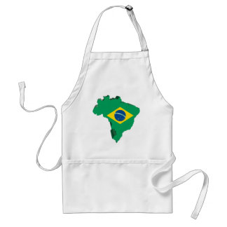 3D Map Of Brazil Apron