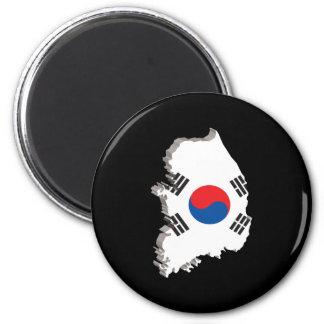 3D Map Of South Korea Magnet