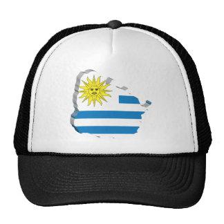 3D Map Of Uruguay Trucker Hat