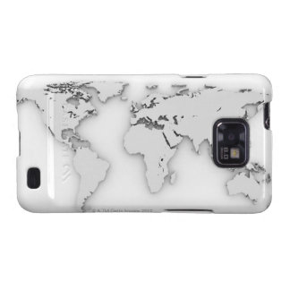 3D mapa del mundo, imagen generada por ordenador Galaxy SII Coberturas