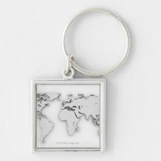 3D mapa del mundo, imagen generada por ordenador Llavero Personalizado