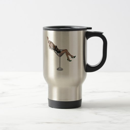 3D Martini Lady 1 15 Oz Stainless Steel Travel Mug