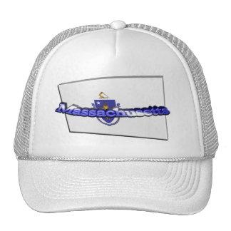 3D Massachusetts State Flag Mesh Hat