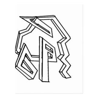 3d maze postcard