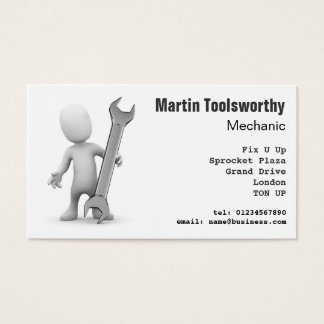 3d Mechanic, repair and engineering Business Card