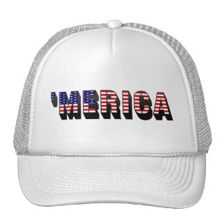 3D 'MERICA US Flag Trucker Hat
