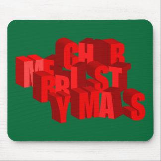 3D Merry Christmas Mousepad