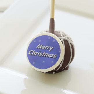 3D Merry Christmas Snow Cake Pops