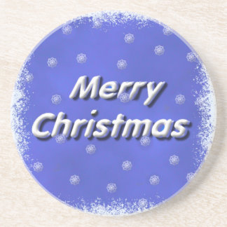 3D Merry Christmas Snow Coaster