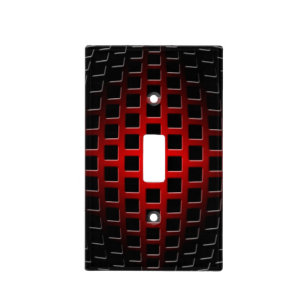 Red 3d Wall Plates Light Switch Covers Zazzle