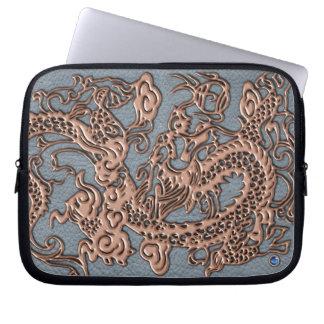 3D Metalic Dragon Leather Texture laptop case