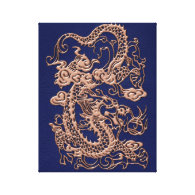 3D Metallic Dragons on royal blue Leather Print (<em>$95.80</em>)