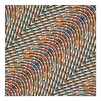 3D Metallic Look Graphic  Colorful Sparkle ART Poster