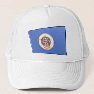 3D Minnesota  State Flag Trucker Hat