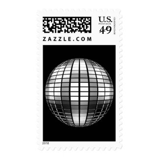 3D Mirror Ball Postage Stamps