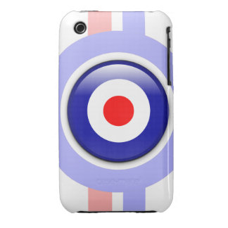 3d Mod target on Blue and red lines iPhone 3 Case