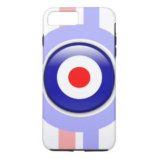 3d Mod target on Blue and red lines iPhone 8 Plus/7 Plus Case