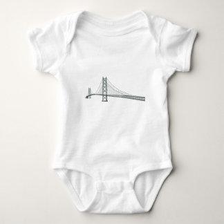 3D Model: Akashi Kaikyo Suspension Bridge Baby Bodysuit