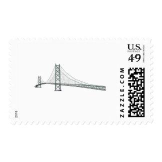 3D Model: Akashi Kaikyo Suspension Bridge Postage