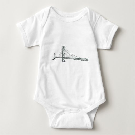 3D Model: Akashi Kaikyo Suspension Bridge T Shirt