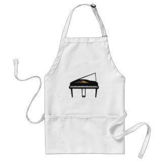 3D Model: Black Grand Piano: Adult Apron