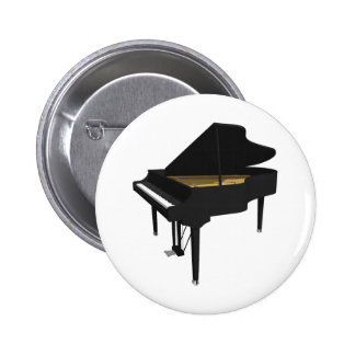 3D Model: Black Grand Piano: 2 Inch Round Button