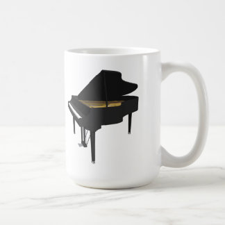 3D Model: Black Grand Piano: Coffee Mug