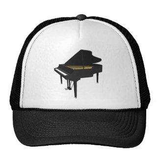 3D Model: Black Grand Piano: Trucker Hat