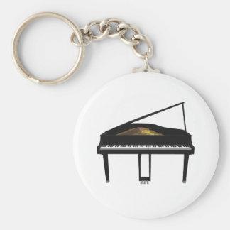 3D Model: Black Grand Piano: Keychain
