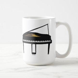 3D Model: Black Grand Piano: Mug