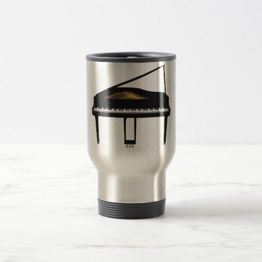 3D Model: Black Grand Piano: Travel Mug