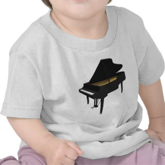 3D Model Black Grand Piano Tee Shirt