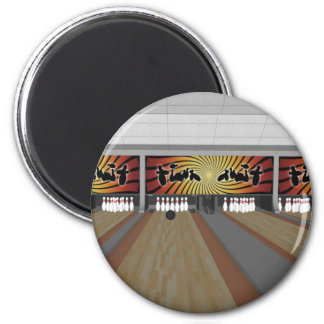 3D Model: Bowling Alley: 2 Inch Round Magnet