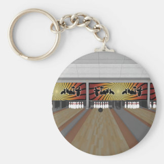 3D Model: Bowling Alley: Basic Round Button Keychain