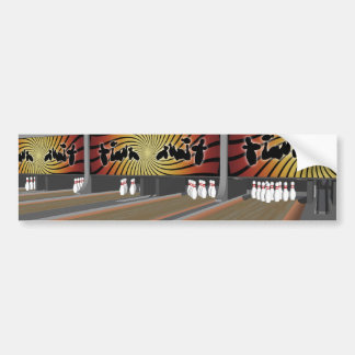 3D Model: Bowling Alley: Car Bumper Sticker