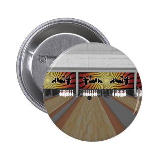 3D Model: Bowling Alley: Pinback Button