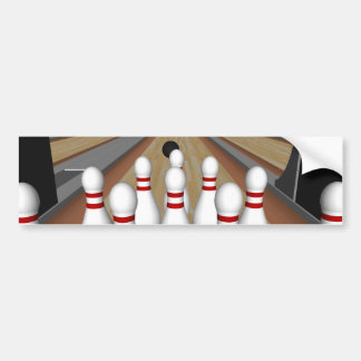 3D Model: Bowling Pins on Lane: Car Bumper Sticker